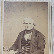Antique Victorian Cabinet Card Gentleman