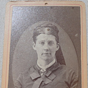 Antique Victorian Cabinet Card  Photo Woman