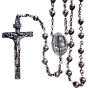 REDUCED Art Deco Sterling Silver Rosary