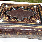 Antique Victorian  Leather Photo Album