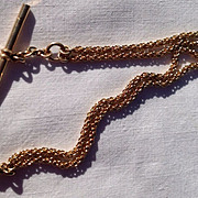 REDUCED Vintage Gold Watch Chain