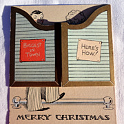 REDUCED Vintage Merry Christmas Card
