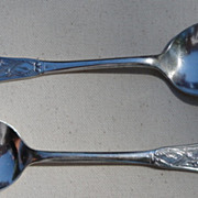 REDUCED Pair Rogers & Bro Silver Plate Spoons