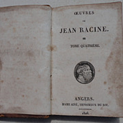 SALE 1826 Work Of Jean Racine Volume 4