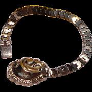 Wonderful Victorian Gold Filled Flexible Link Baby Bracelet
