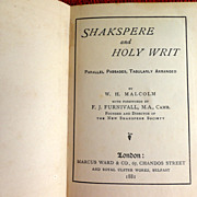 1881 Shakspere And Holy Writ By W. H. Malcolm