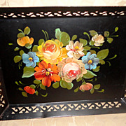 REDUCED Vintage Hand Painted Tole Tray