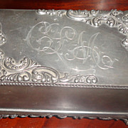 REDUCED Victorian Silver Plate Jewelry Casket Jewelry Box
