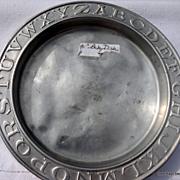 Vintage Aluminum ABC Child's Plate