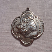 REDUCED Large Vintage St. Anthony Catholic Medal