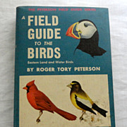 SOLD 1947 A Field Guide To The Birds Eastern Land And Water Birds Roger Tory Peterson