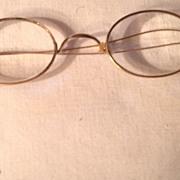 SALE Vintage Gold Filled Rimmed Wire Eye Glasses