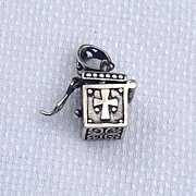 REDUCED Vintage Sterling Silver Prayer Box Pendant Charm