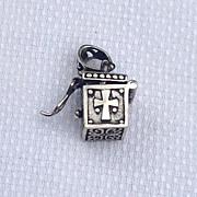 REDUCED Vintage Sterling Silver Prayer Box Pendant Charm