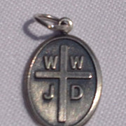 Vintage Sterling Silver Religious Metal