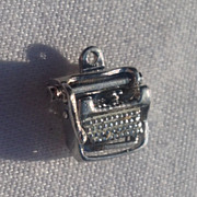 Vintage Sterling Silver Mechanical Typewriter Charm