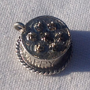 Vintage Dancraft Sterling Silver Happy Birthday Cake Charm