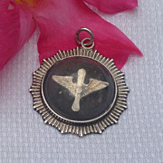 REDUCED Rare Sterling Silver Army Air Corps Pendant