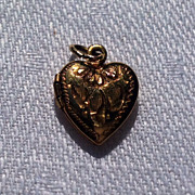 SALE Vintage 12K Gold Filled  Double Photo Heart Locket