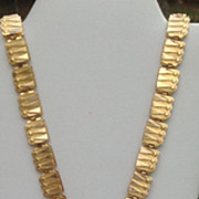 REDUCED Victorian Gold Filled Two Sided Flexible Bookchain Necklace