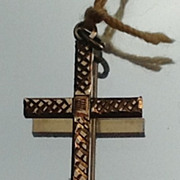 REDUCED Vintage Gold Filled Cross Pendant