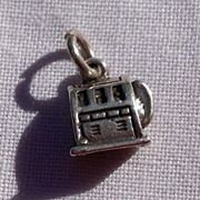 Vintage Sterling Silver Slot Machine Charm