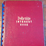 SALE 1945 Delbridge Interest Book No. 102