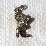 Vintage Sterling Silver Cheerleader Charm