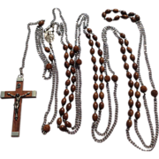 REDUCED Vintage Seven Decades Priest Rosary