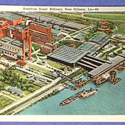 Vintage American Sugar Refinery New Orleans Post Card