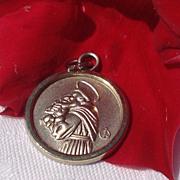 SALE Vintage Silver Tone Saint Joseph Medal