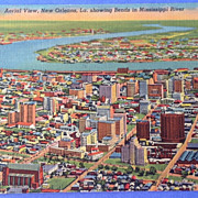 Vintage Aerial View New Orleans Louisiana Post Card