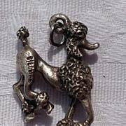 Vintage Sterling Silver Large Poodle Charm