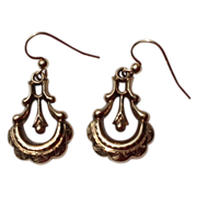 REDUCED Victorian Gold Filled Dangle Earrings