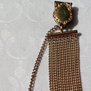 Gold Filled Watch Chain &  Seal Fob