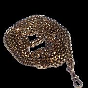 "REDUCED Fabulous English 9K Rose Gold Elegant 56"" Belcher Chain Necklace"