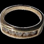 REDUCED Vintage Gold Filled Paste Baby Ring