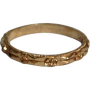 REDUCED Vintage 14K Yellow Gold Wedding Eternity Ring Band
