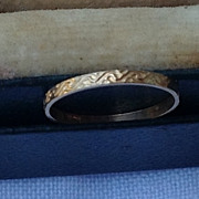 REDUCED Victorian 10K Gold Baby Band Ring