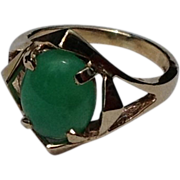 REDUCED Vintage 10K Gold Jade Ring