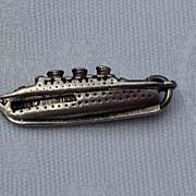 Vintage Sterling SIlver & Enamel Queen Of Bermuda Sailing Ship