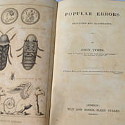 SALE 1841 Popular Errors Explained & Illustrated By John Timbs
