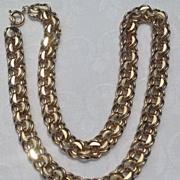 Vintage Gold Filled Charm Bracelet Link Necklace