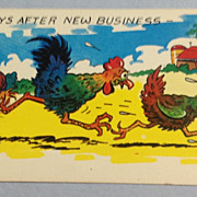 Vintage Always After New Business Comic Post Card