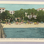 Vintage Hotel Buena Vista Biloxi Mississippi Post Card