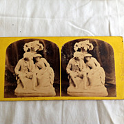 SALE 1867 Stereo-Photography Stereo View Card Love Tale #53 Gems Of Statnary By Eminent Srulpl