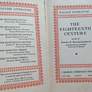SALE 1929 The Eighteenth Century English Literature