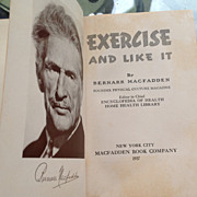 1937 Exercise And Like It By Bernarr MacFadden