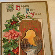 1910 Art Deco A Happy New Year Post Card