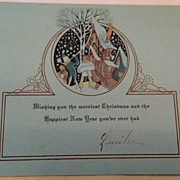 Art Deco Merriest Christmas & Happiest New Year Greeting Card